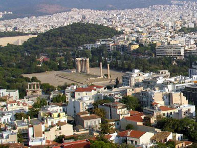 The temple from the Acropolis