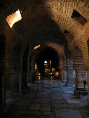 The vaults of the crypt