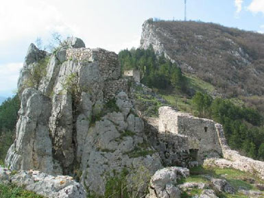Fortress – view from south with entrance tower
