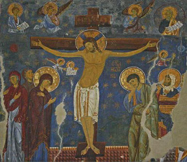 The Crucifixion, fresco from The Holy Virgin Church