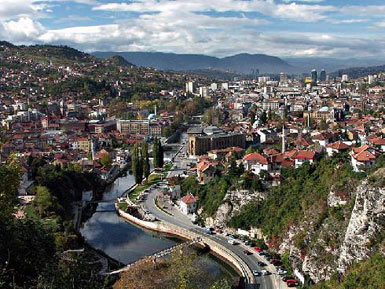 Sarajevo - view from the east