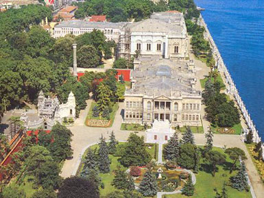 Dolmabahce Palace - air view