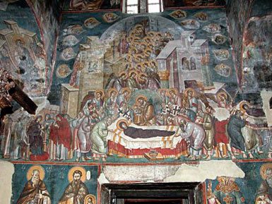 Church of Holy Mother of God Peribleptos (St. Clement) - fresco
