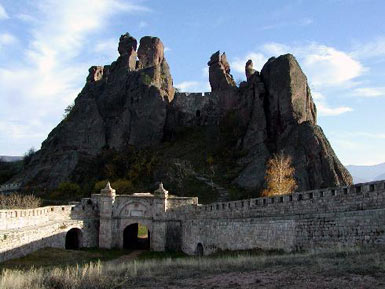 The fortress and the rocks