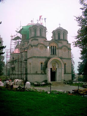 Reconstruction of the church in 2005