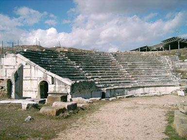 Theatre in ancient town of Stobi