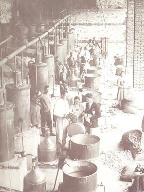 Factory for rose oil