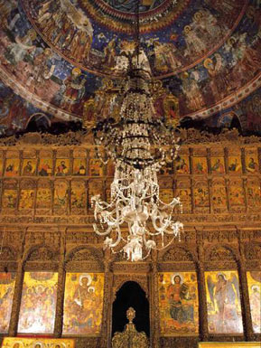 The iconostasis with  remarkable wood carved decoration