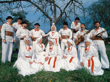 Folklore groupe from Bela Krajna