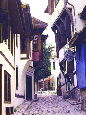 Typical street in Plovdiv
