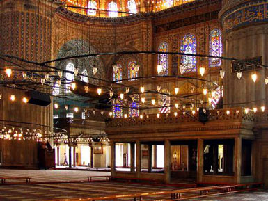 Sultanahmet (Blue) Mosque - Interior view