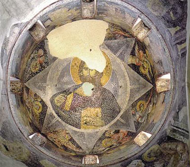 Christ Panthokrator painted on the cupola of the church