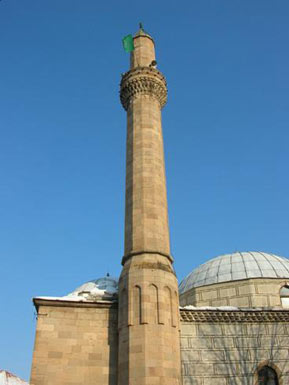 The minaret of Altun Alem Mosque
