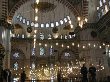 Suleymaniye Mosque - Interior view