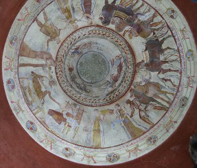The frescoes on the cupola
