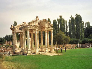 Tetrapylon - It was the entrance of the Aphrodite temple at Aphrodisias