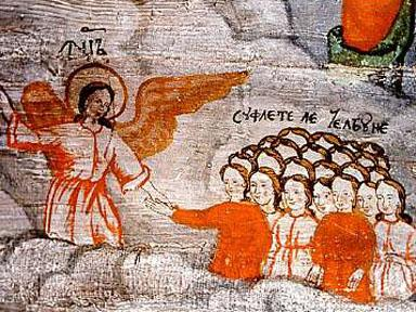 Poienile Izei Church - Fresco