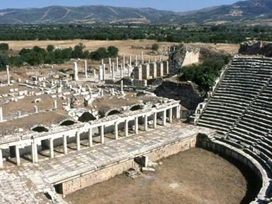Theatre at Aphrodisias - view from above