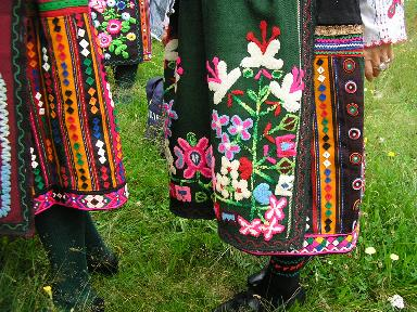 Embroidery from national costumes