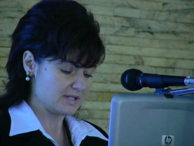 Welcoming speech by the representative of the Prefecture of Brasov, Romania, Mrs. Nadija Bozocea