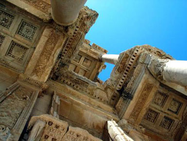Celsus Library - detail