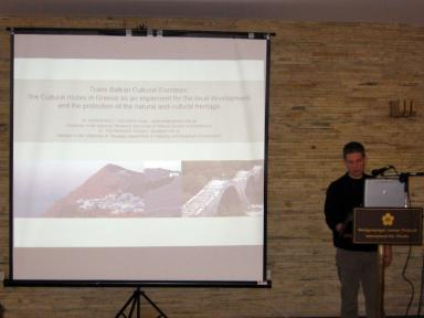 Presentation by Dr. Giorgos Tsilimigkas during the first day of the Regional Forum