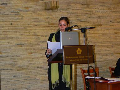 Presentation by arch. Donika Georgieva during the first day of the Regional Forum