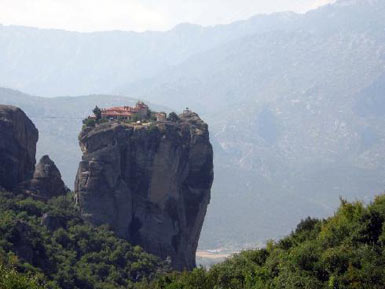 A monastery on the rock