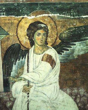 The White Angel - fresco in the church St. Sava