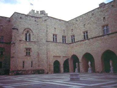 The courtyard of the Palace