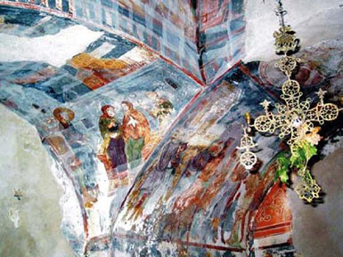 The frescoes of the Church