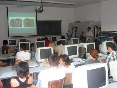 Lecture in the Multimedia Laboratory