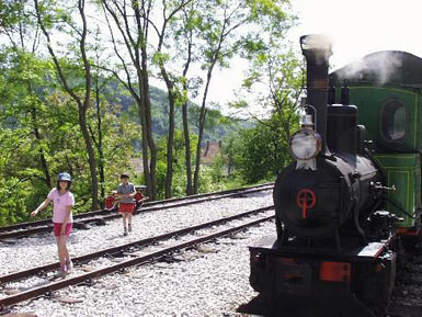 Children like to visit Sargan 8 Railroad