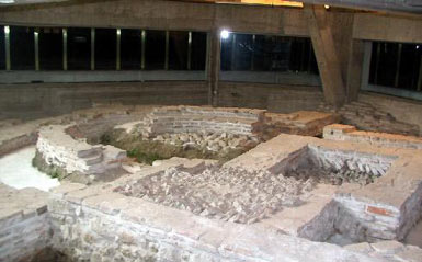 Protected remanants of early christian basilica