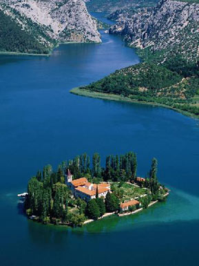 National Park Krka, an island