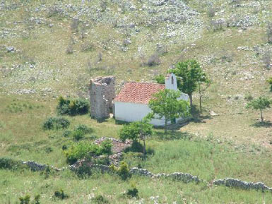 National Park Kornati, a church