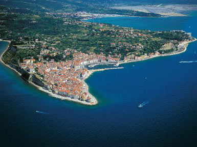 Piran with Portoroz bay