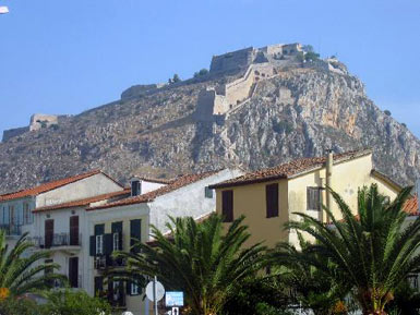 The fortress above Nauplion