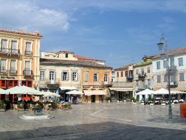 A square in Nauplion